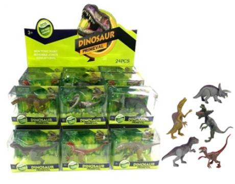 10cm Dinosaur Figures In Acetate Display