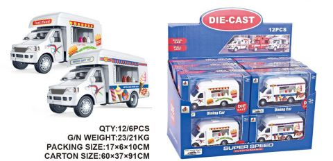 13CM 2 Assorted Ice Cream/Burger Vans