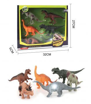16cm Dinosaurs In Window 6 Pieces