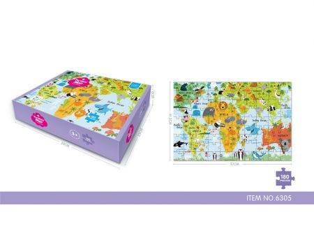 180 Piece Countries Puzzle
