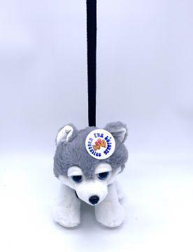 20cm Plush Husky And Lead