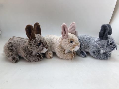 24cm Bunny Rabbit 3 Astd Colours
