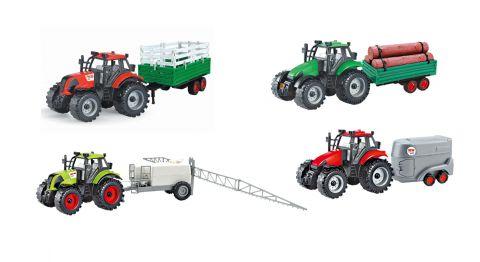 28cm Diecast Farm Tractor and Trailer