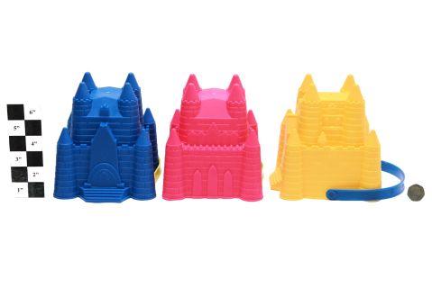 3 Astd.  Coloured Fairy Castle Bucket SP115