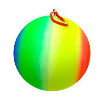 "30cm / 12"" Neon Rainbow Ball On Spring"