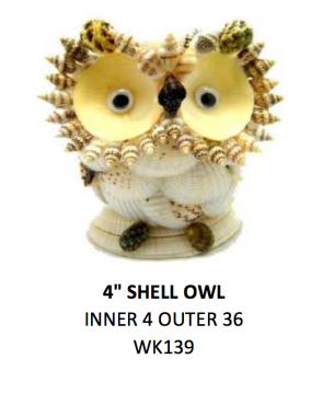 "4"" Shell Owl"