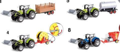 56cm Giant Friction Tractor & Trailer With Light & Sound 4 Astd