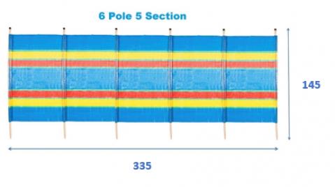6 Pole Tall  Windbreak