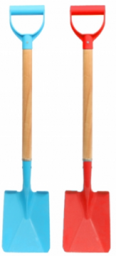 76cm Wooden Shafted Metal Spade