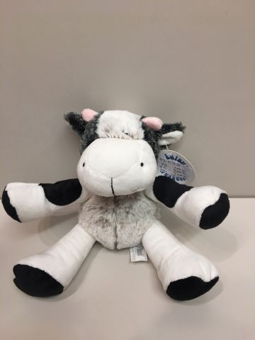 "8"" Soft Sitting Cow PL025"
