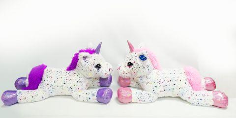 80cm 2 Assorted Plush Sparkly Unicorn