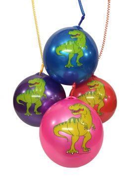 """23cm / 9"""" Dinosaur Ball With Plastic Clip Keychain"""