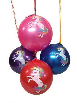 "23cm / 9"" Unicorn Ball With Plastic Clip Keychain"