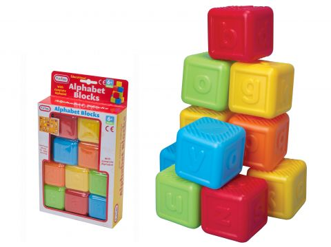 Alphabet Blocks 10pcs 6months +
