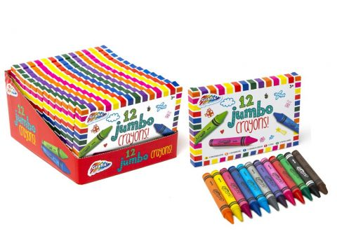 Box Of 12 Super Jumbo Crayons