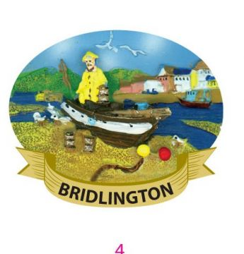Bridlington Fisherman Resin Magnet