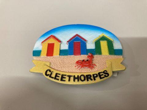 Cleethorpes Beach Hut Resin Magnet
