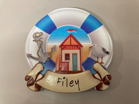 Filey Lifebuoy Beach Hut Magnet