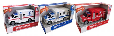 Friction Emergency Vehicles With Light & Sound 1:20 Scale