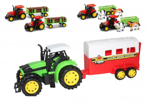 Giant 35cm Boxed Tractor & Trailer 3 Astd