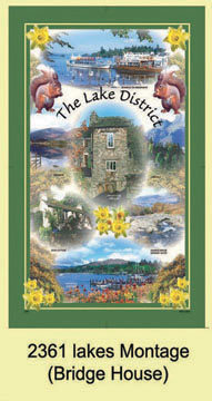 Lakes Montage Tea Towel