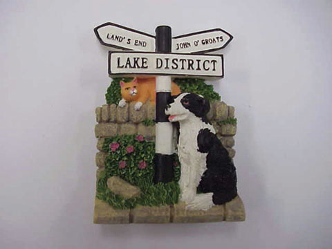 Lake District Collie & Sign Magnet