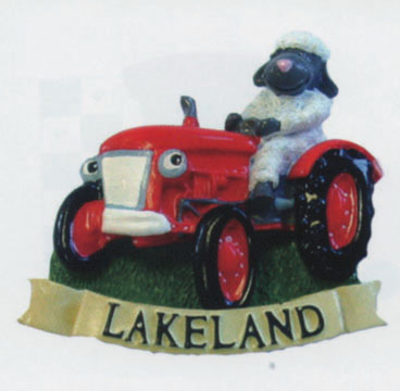 Lakeland Sheep On Tractor Magnet