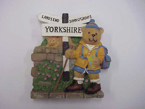 Yorkshire Hiker Bear Magnet