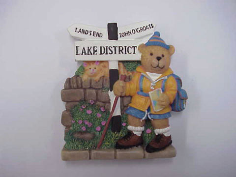 Lake District Hiker Bear Magnet