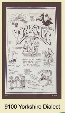 Yorkshire Dialect Tea Towel