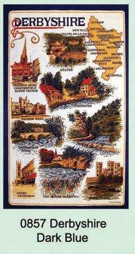 Derbyshire Blue Tea Towel