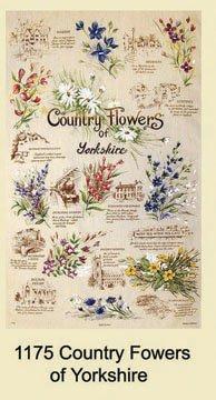 Yorkshire Country Flowers Tea Towel