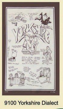 Yorkshire Dialect Tea Towel