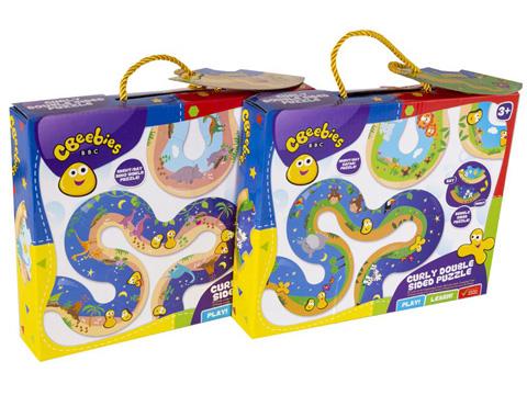 CBEEBIES Curly Puzzle 2 Asst 45 x 250 x 200mm