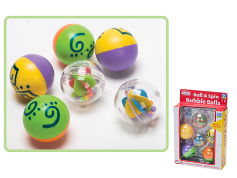 Spin & Roll Bubble Balls 40 x 140 x 210mm