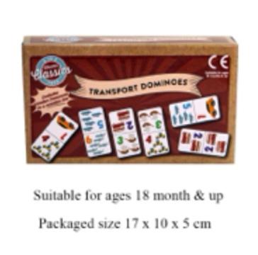 Wooden Transport Dominoes 18+ months