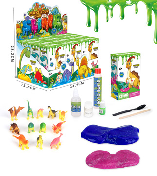 DIY Slime Set - Dino 248 x 136 x 282mm (Display Box 12pcs)
