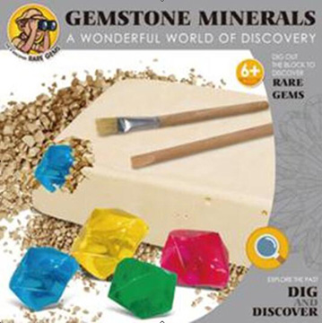 Gemstone Mineral Excavation Kit. 290 x 290 x 45mm