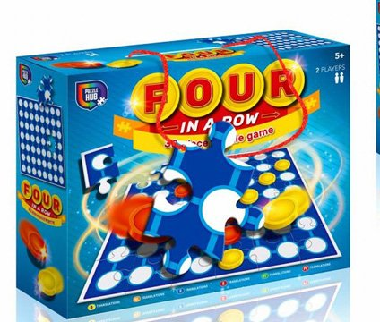 4 In 1 Row Game Puzzle 90 x 300 x 240mm
