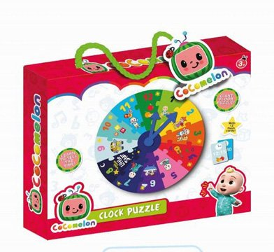 COCOMELON My First Clock Puzzle 90 x 300 x 240mm
