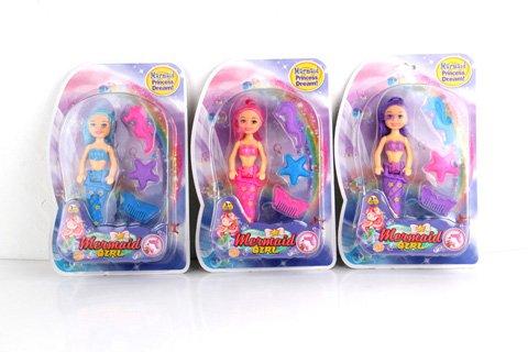 """7"""" Mermaid Doll / double blister card"""