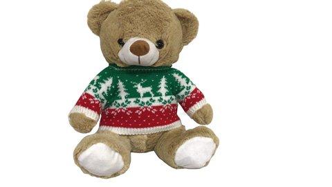 "12"" (30cm) Plush Bear with Christmas Jumper"