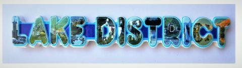 Lake District Letters Resin Magnet