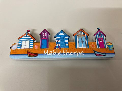 Mablethorpe Row Of Beach huts Magnet