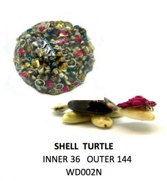 Mini Shell Turtle in Basket