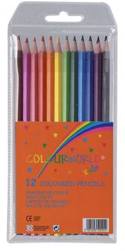 Pack Of 12 Full Size Colouring Pencils