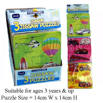 Pack of 3 Jigsaw Puzzles