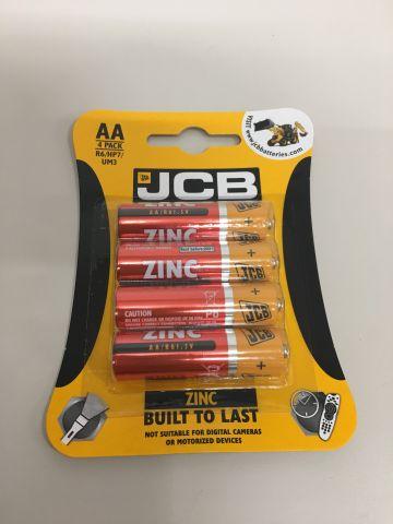 Pack 4 AA Zinc Batteries