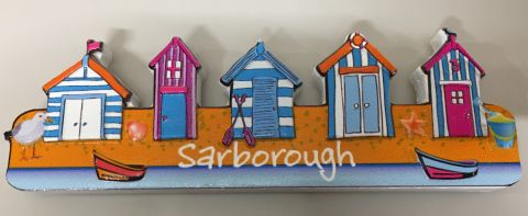 Scarborough Beach Huts Resin Magnet