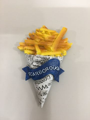 Scarborough Fish & Chips Cone Resin Magnet